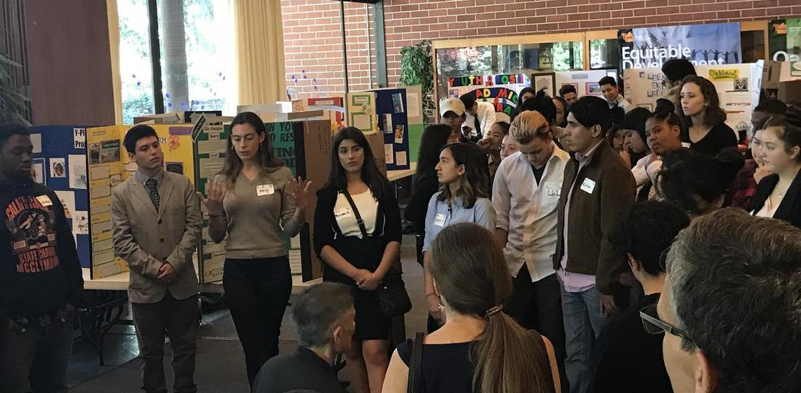 Oakland high school students present their Y-PLAN action research findings and proposals.