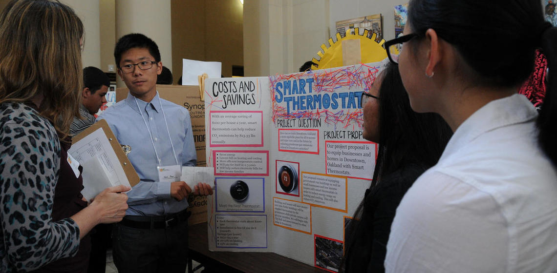 Oakland high school students present their Y-PLAN action research findings and proposals to build a healthier, more equitable and sustainable Oakland at City Hall.